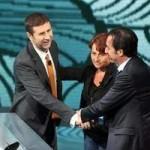 Con Angelina Vassallo e Fabio Fazio a Che tempo che fa